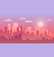 evening city panorama flat vector image