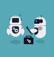flat repair robot mascot vector image