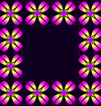 Frame of purple clover vector image vector image