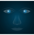 glass eyes vector image vector image