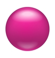 Glossy pink badge magnet icon realistic style vector image vector image