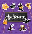 halloween handwritten lettering vector image