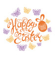 happy easter template background vector image