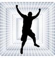 happy young man vector image vector image