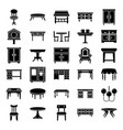 home interior glyph icons vector image vector image