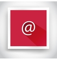 Icon of email for web and mobile applications vector image vector image