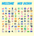 icons online store base set in a flat style vector image vector image