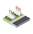 isometric 3d city module industrial urban factory vector image vector image