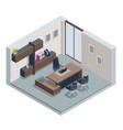 isometric vip office furniture ceo office vector image vector image