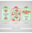 Labels Red Flowers vector image vector image