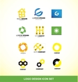 Logo design element icon set vector image