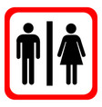 man and woman icons toilet sign restroom vector image vector image