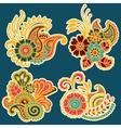 Mehndi design Patterns vector image vector image