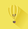 minimalistic idea lightbulb concept in flat design vector image