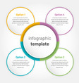 modern infographic with 4 options circle template vector image