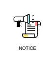 notice graphic icon vector image