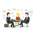 People at the table interviewing vector image vector image