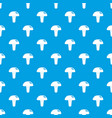 poisonous mushroom pattern seamless blue vector image vector image