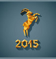 polygonal golden ram sheep symbol of year vector image