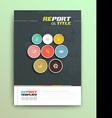 Presentation of brochure cover design template vector image vector image