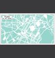 puebla mexico city map in retro style outline map vector image