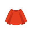 red skirt fashion women clothes vector image vector image