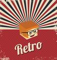 retro cartoon character vector image