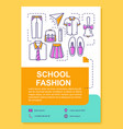 school fashion brochure template layout clothes