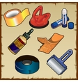 Set of adhesive and materials tools vector image