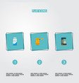 set of coffee icons flat style symbols with pocket vector image vector image