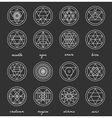 Set of geometric hipster shapes45662 vector image vector image