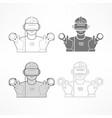 set of virtual reality headset vector image