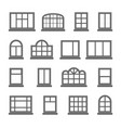 silhouette house empty comfort windows estate vector image vector image
