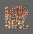 simple paper alphabet lettersnumbers and vector image vector image