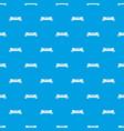 skateboard deck pattern seamless blue vector image vector image