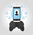 smartphone videogames technology vector image