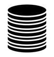 stacked circles symbol archive webhosting vector image