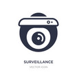 surveillance camera icon on white background vector image vector image