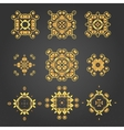swirl pattern set 2 vector image vector image