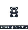teddy bear icon flat vector image vector image