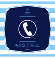 telephone handset surrounded by a telephone cord vector image