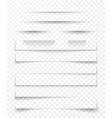 transparent realistic paper shadow effect set web vector image vector image