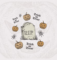 trick or treat halloween background or card vector image vector image