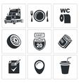 Truck Icon Set vector image vector image