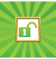 Unlocked picture icon vector image