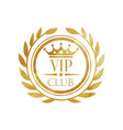 vip club logo luxury golden badge for club vector image vector image