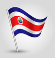 waving simple triangle costa rican flag vector image vector image