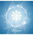 Winter Poster with Snowflake on Geometric vector image vector image
