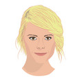 woman face icon in flat style vector image