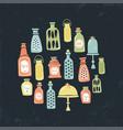 vintage jars circle vector image